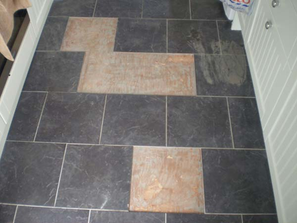 Floor Tile Repair Before